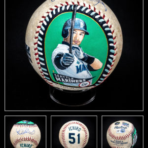 Ichiro Suzuki Authenticated Baseball Masterpiece