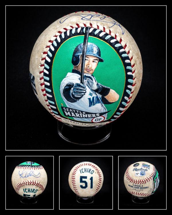 Ichiro Suzuki Authenticated Baseball Masterpiece